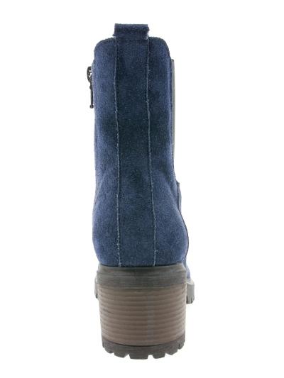 Синие ботиночки на каблуке 07-99