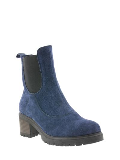 Новинки магазина Башмачок модель Синие ботиночки на каблуке 07-99
